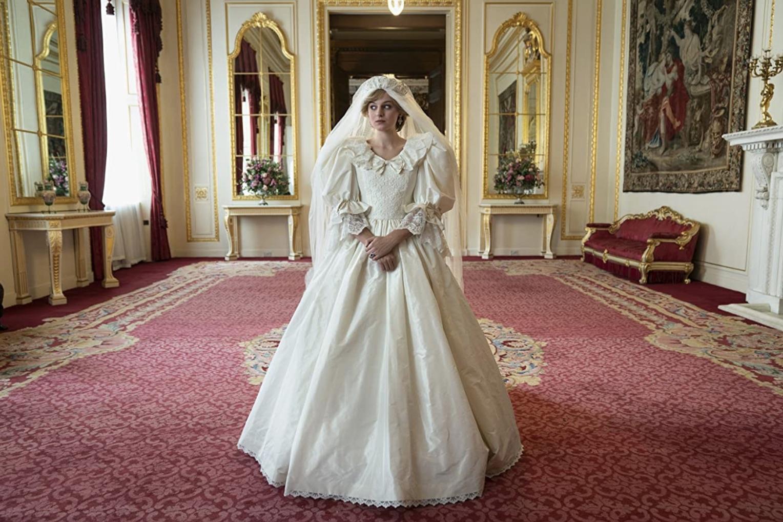 Still of Emma Corrin in The Crown