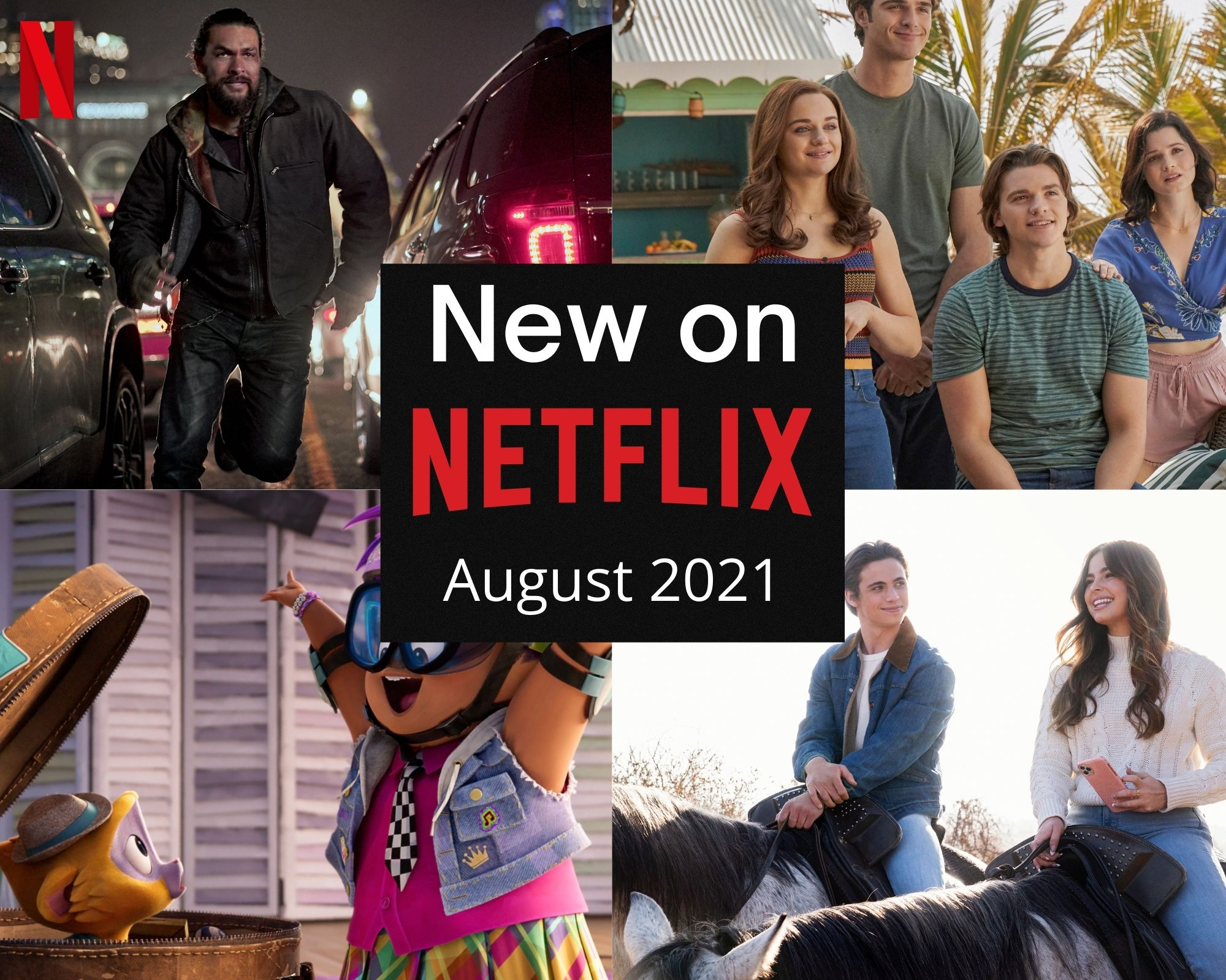 New on Netflix August 2021 collage.