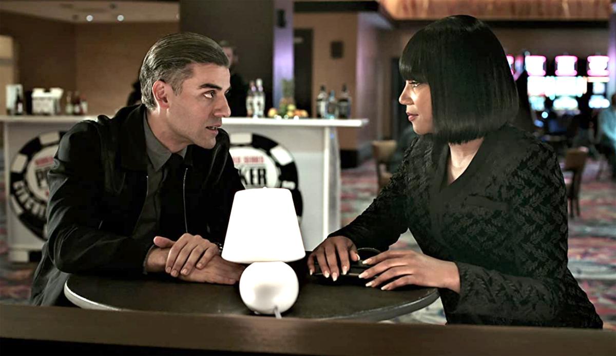 Oscar Isaac and Tiffany Haddish in The Card Counter