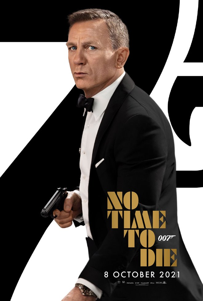 No Time To Die movie poster.