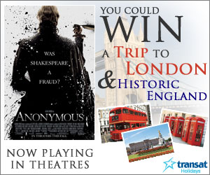 Enter and you could WIN a trip to London and historic England!