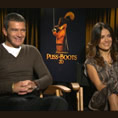 Tribute spoke to Antonio Banderas and Salma Hayak about providing the voices for Puss and Kitty in the animated box office hit, Puss in Boots