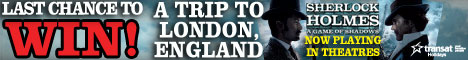 Last chance to win a trip to London England!