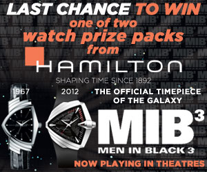 Last chance to win a $2000 Hamilton Watch Prize Pack