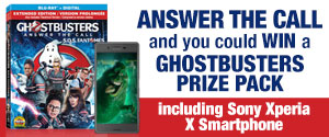 Enter to win a copy of Ghostbusters prize pack, including Sony Xperia X Smartphone, a copy of Ghostbusters on Blu-Ray and more!