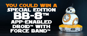 You Could Win a Special Edition BB-8™ App-Enabled Droid™ Valued at $230.00!