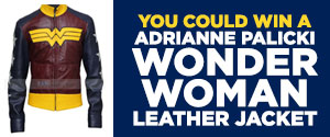 Enter to win a Adrianne Palicki Wonder Woman Leather Jacket Valued over $119
