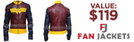 Win an Adrianne Palicki Wonder Woman Leather Jacket valued over $119
