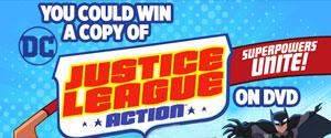 DC JUSTICE LEAGUE ACTION SUPERPOWERS UNITE DVD CONTEST
