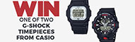Enter to WIN one of two Casio G-Shock Watches