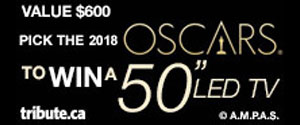"""Tell us who will win the Oscars for a chance to win a 50"""" LED TV"""