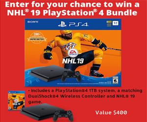 NHL 19 PlayStation 4 Bundle contest