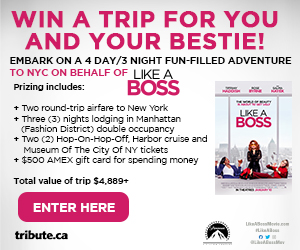 Win a Trip for two to New York and Live like a Boss