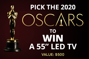 """Enter our 2020 Academy Awards for a 55"""" LED TV!"""