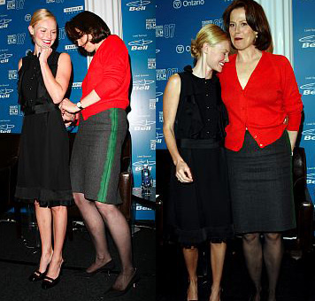 Kate Bosworth and Sigourney Weaver at TIFF press conference