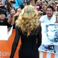 Madonna approaches her fans on the red carpet prior to the screening of  her film at Roy Thomson