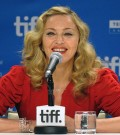 Director Madonna answers questions at the W.E. press conference at the Bell Lightbox on Monday September 12, 2011