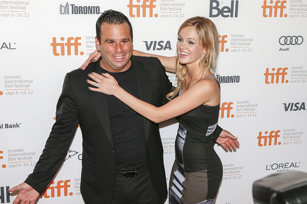 Producer Randall Emmett and actress Ambyr Childers ...
