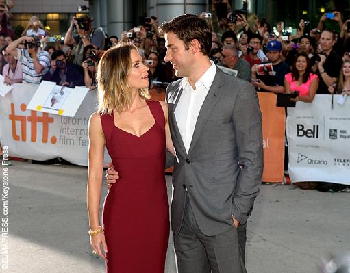 Emily Blunt and husband John Krasinski of The Office fame ...