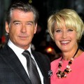 Pierce Brosnan enjoys Emma Thompson's crazy antics on the red carpet