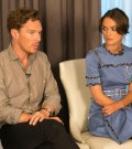 Benedict Cumberbatch, Kiera Knightley share a drink while promoting new film