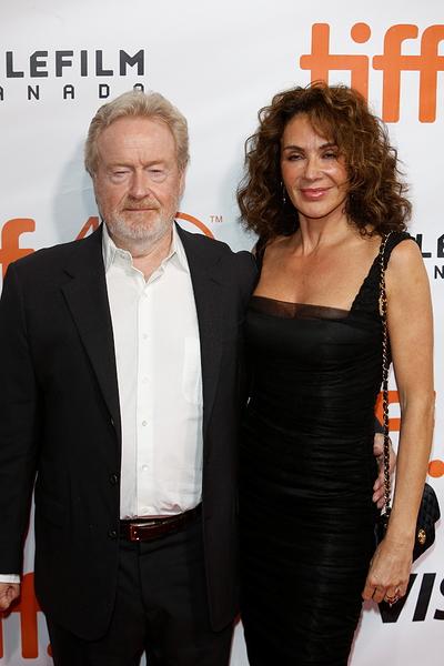 Ridley Scott and wife Giannina Facio | Toronto ... Matt Damon Wife