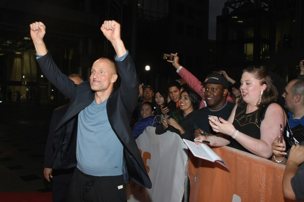 Woody Harrelson on the TIFF red carpet