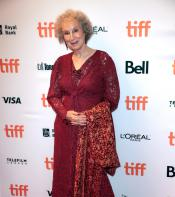 Margaret Atwood poses for photo