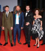The Outlaw King team on the red carpet