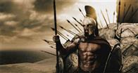 "GERARD BUTLER portray Leonidas, the king of Sparta who, along with 300 soldiers, battles to prevent the Persian army from invading all of Greece in Warner Bros. Pictures', Legendary Pictures' and Virtual Studios' action drama ""300,"" distributed by Warner Bros. Pictures."
