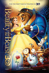 Beauty and the Beast 3D Movie Poster