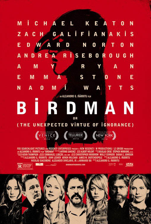 Birdman or (The Unexpected Virtue of Ignorance) Large Poster