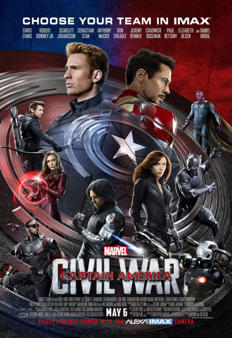 Captain america civil war the imax experience movie poster