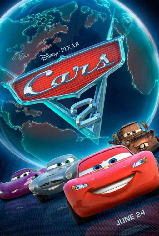 Cars 2 3D Large Poster