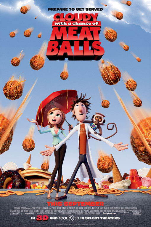 Cloudy with a Chance of Meatballs Large Poster