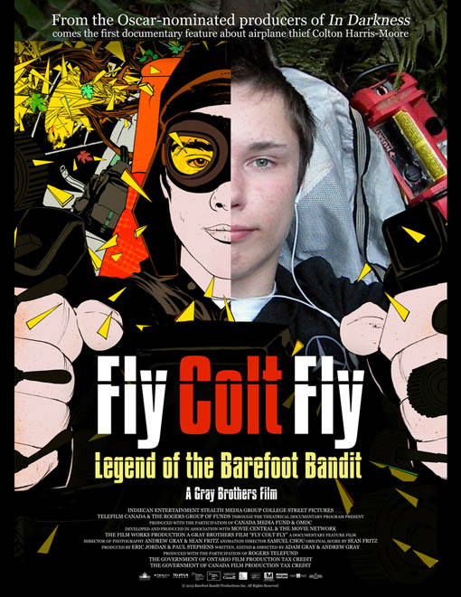 Fly Colt Fly: Legend of the Barefoot Bandit Large Poster