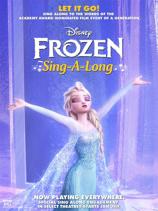 Frozen Sing-Along Large Poster