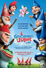 Gnomeo & Juliet 3D Movie Poster