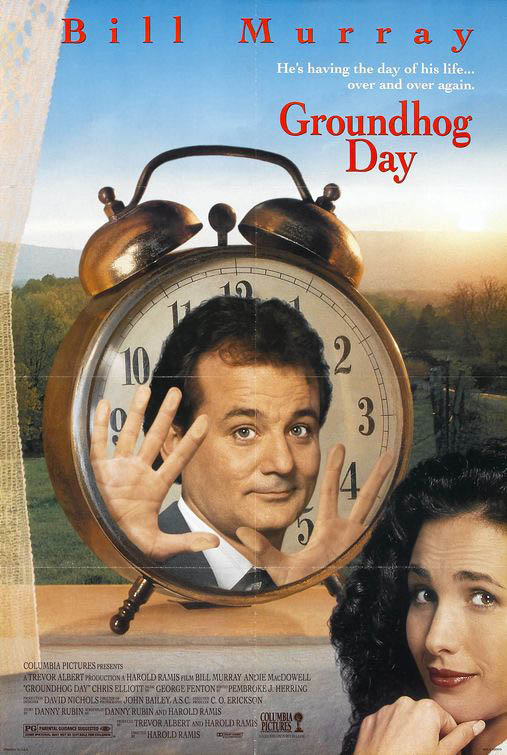 Groundhog Day Large Poster