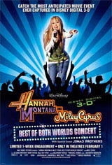 Hannah Montana & Miley Cyrus: Best of Both Worlds Concert Tour in Disney Digital  3-D Movie Poster
