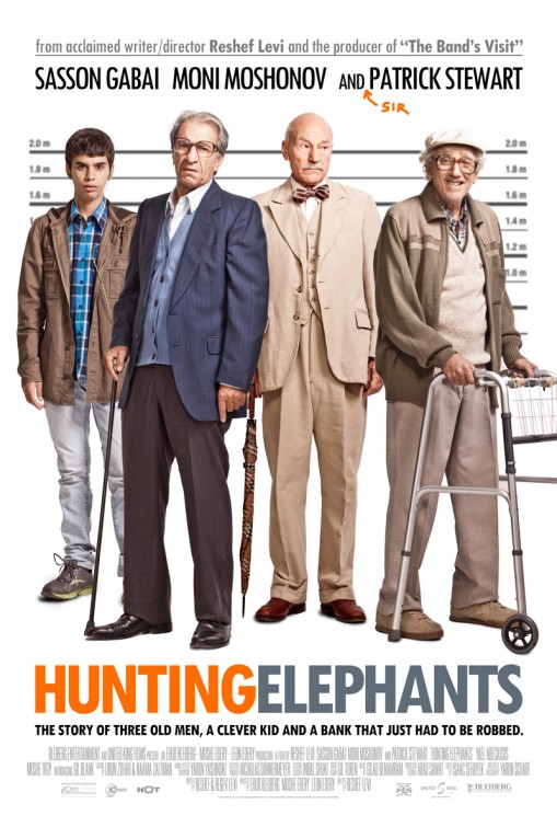 Hunting Elephants Large Poster