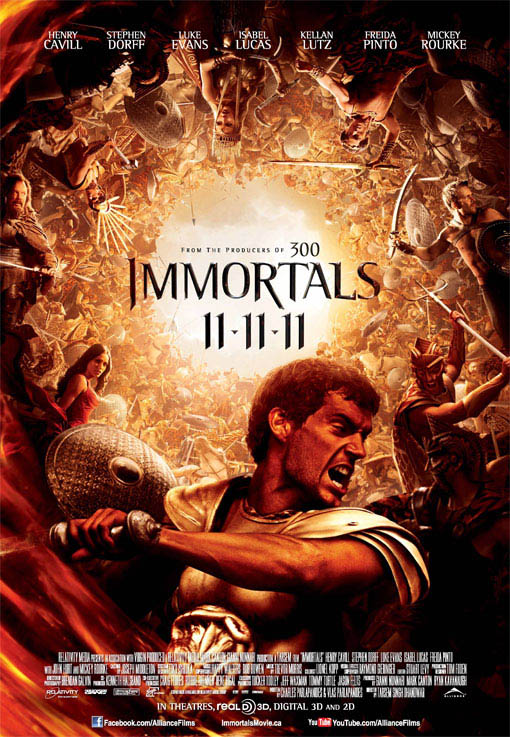 Immortals official Movie Poster