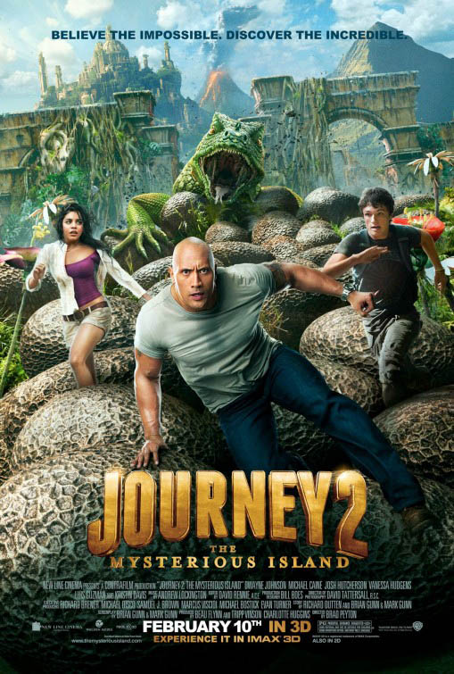 Journey 2: The Mysterious Island official Movie Poster