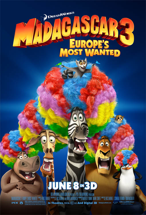 Madagascar 3: Europe's Most Wanted official Movie Poster