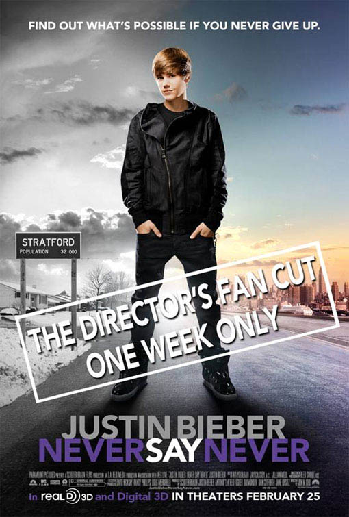 justin bieber never say never movie on dvd. Justin Bieber: Never Say Never