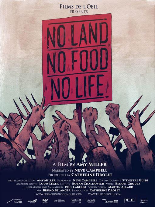 No Land No Food No Life Large Poster