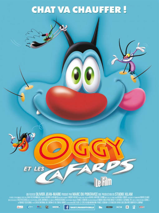 Oggy and the Cockroaches Large Poster