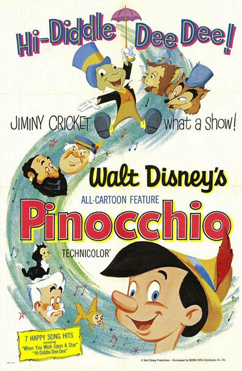 Pinocchio (1940) Large Poster
