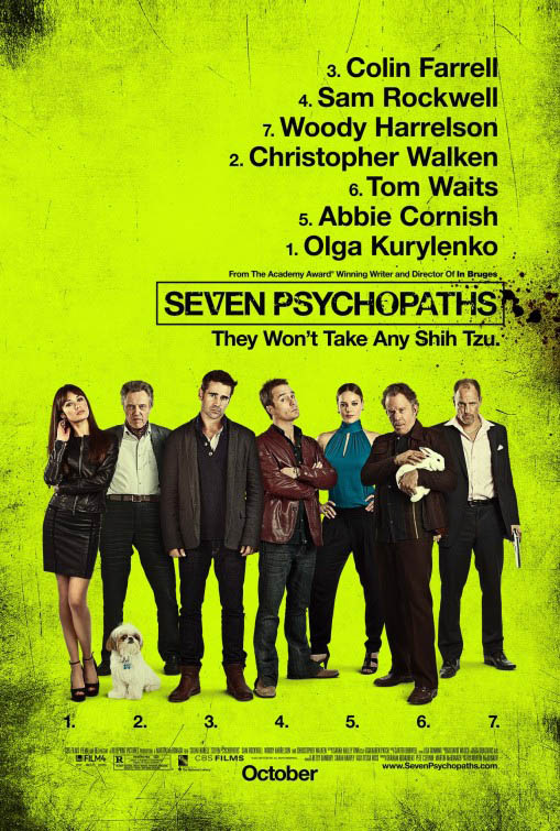 Seven Psychopaths official Movie Poster