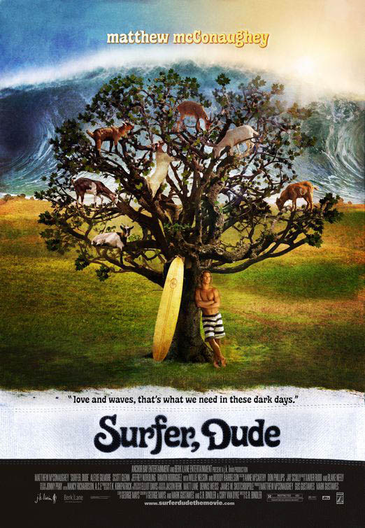 Surfer dude poster for New kid movies coming out this weekend